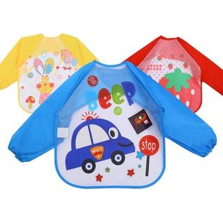 【快速出貨】,現貨,批發,下殺,EVA罩衣 嬰幼兒童長袖防水反穿衣 寶寶吃飯衣圍兜免洗畫畫衣