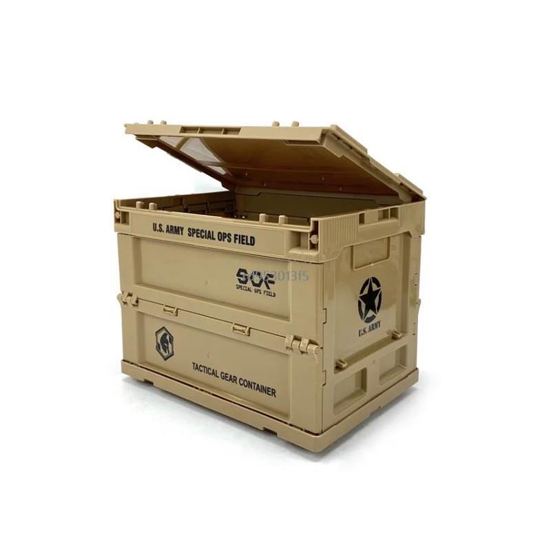 🔥【滿299免運】SOF 軍風摺疊收納箱 S號 沙色 軍綠色 折疊箱 一單位折疊箱 Campingba