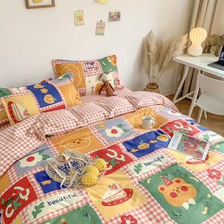 Blue cat❤️ins日系可愛卡通風少女心被套床單雙人床上四件套學生宿舍三件套4四件套 卡通四件套 桃園市