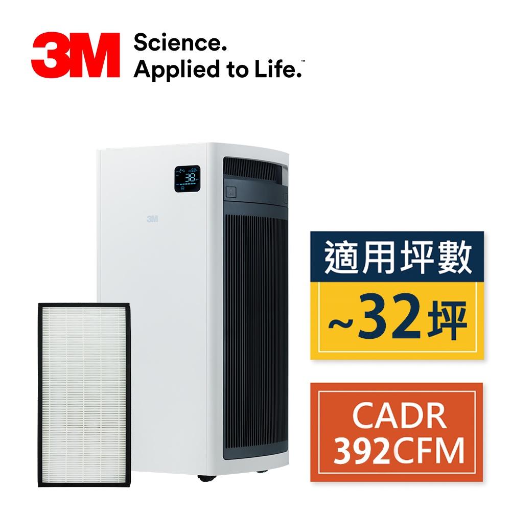 3M FA-S500淨呼吸全效型空氣清淨機-適用13-32坪(內含靜電濾網2片組) N95口罩濾淨原理