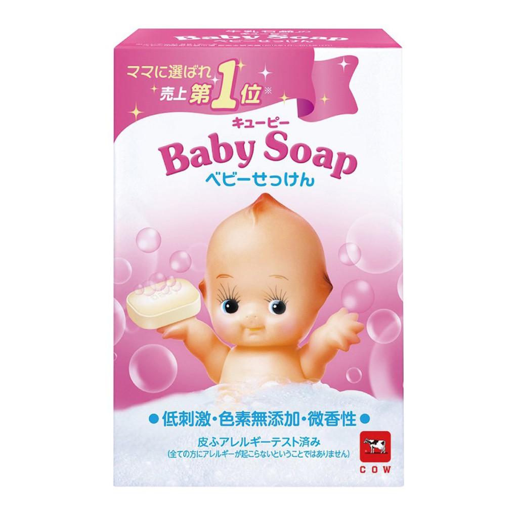 日本 牛乳石鹼 COW Q比嬰兒牛乳香皂 (90g)【花町愛漂亮】