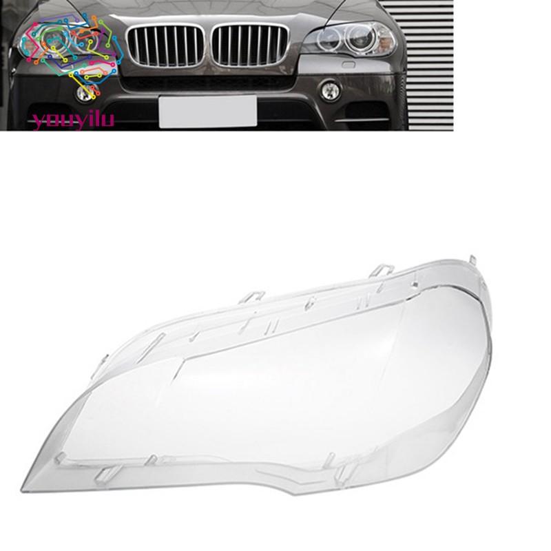 適用於寶馬X5 E70汽車透明大燈透鏡蓋更換大燈燈殼蓋2008-2013左