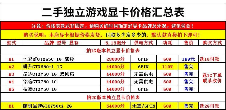 限時優惠%二手獨立吃雞游戲顯卡華碩GTX750TI2G 660 760 950 9604G 1060 6G