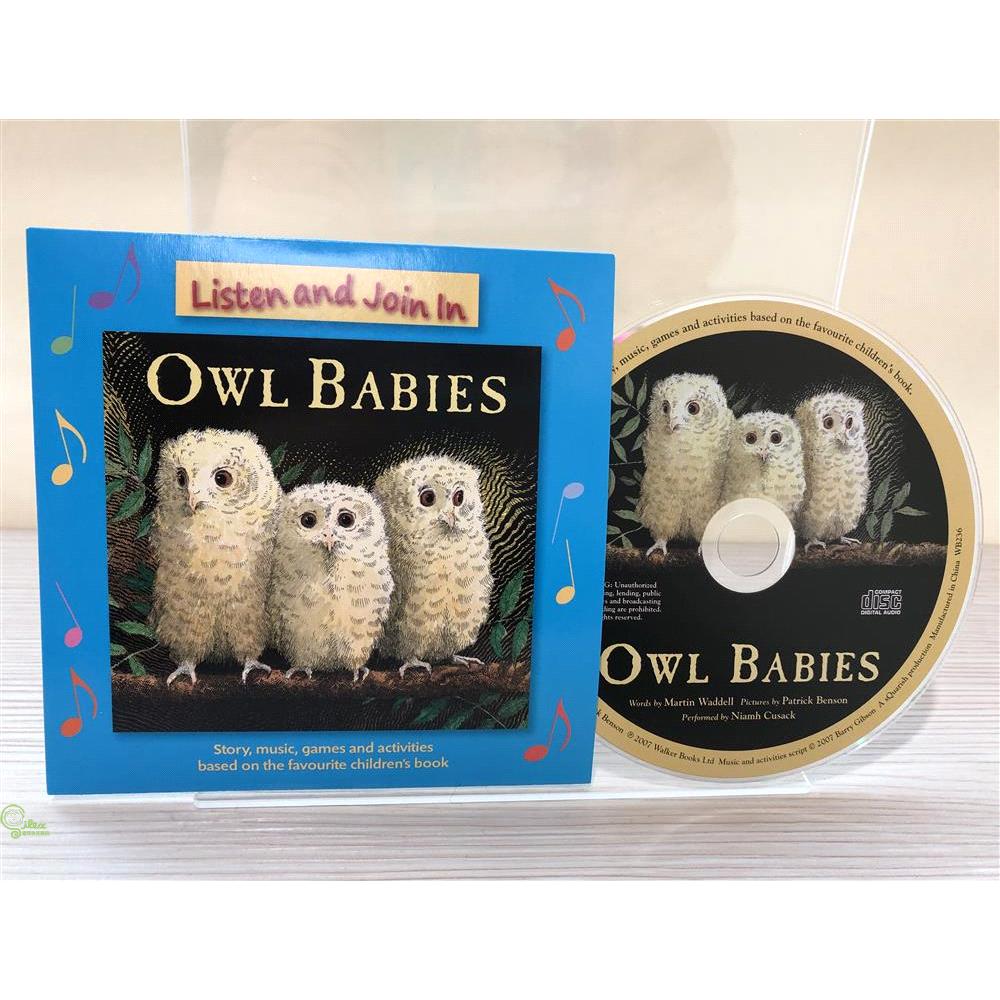 Owl Babies (單CD) 廖彩杏老師推薦有聲書第43週【禮筑外文書店】[66折]