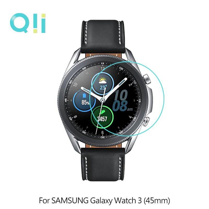 Qii SAMSUNG Galaxy Watch 3 (41mm)、(45mm) 玻璃貼 (兩片裝)