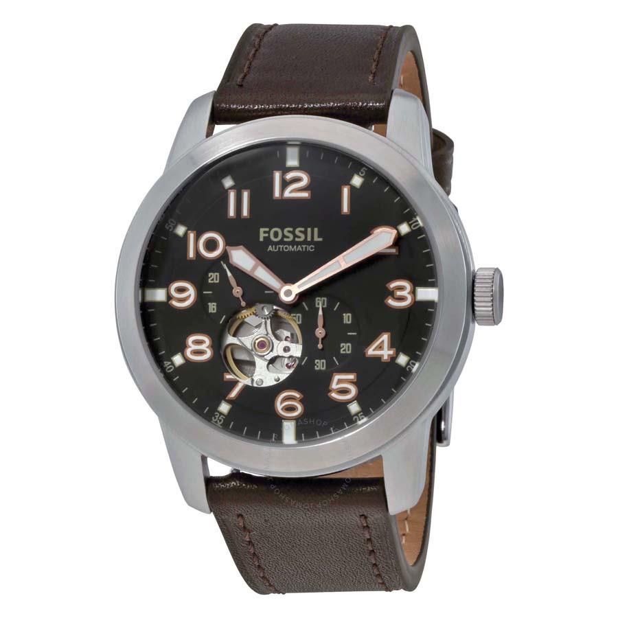 FOSSIL手錶 ME3118 前後鏤空 獨立秒針 簡單大氣 機械錶款 錶現精品 原廠正品