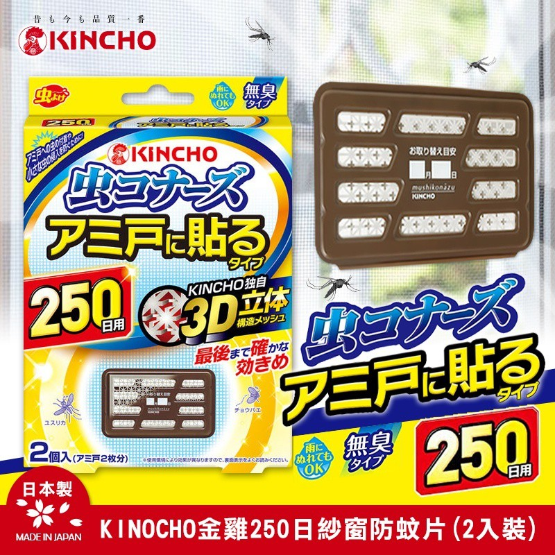 KINCHO金雞250日紗窗防蚊片(2入裝)