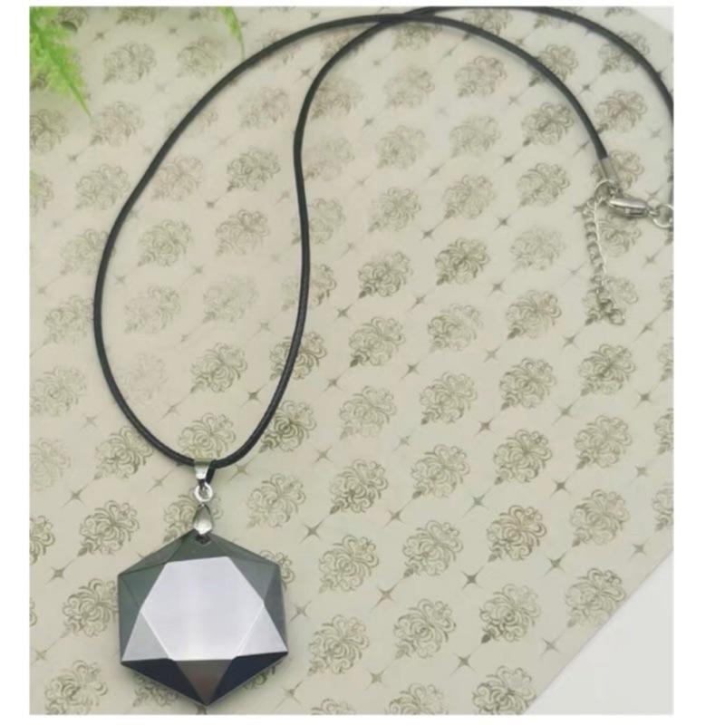 日本正品 鈦赫茲項鍊 皮繩款 六芒星 葫蘆 平安牌 太赫茲 可融冰 舒壓能量