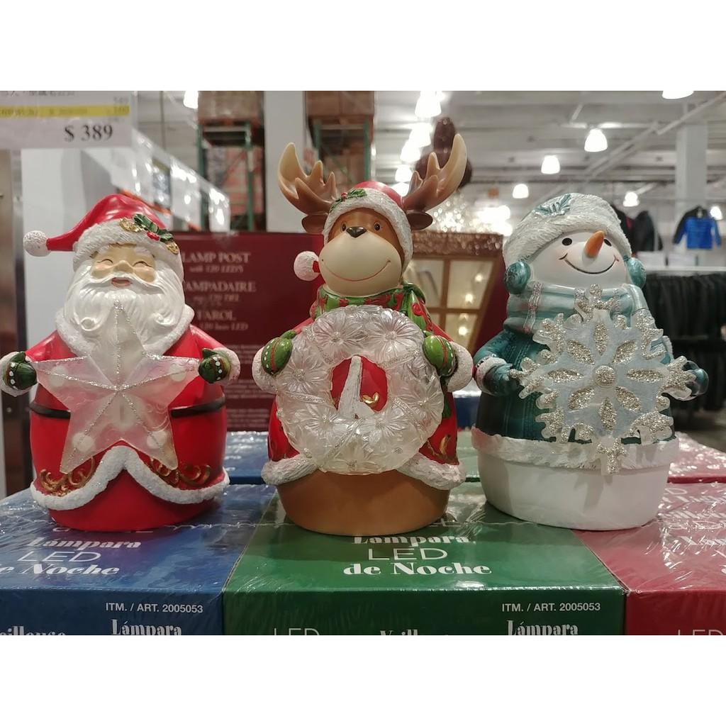特價599元 好市多 聖誕主題 造型夜燈 (3入組)(麋鹿、雪人、聖誕老公公)