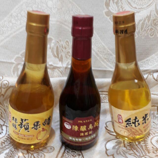 台酒產品:蘋果醋、陳年烏醋、純米醋