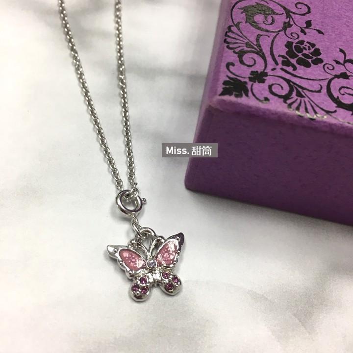 現貨!ANNA SUI-粉色鑽蝴蝶項鍊