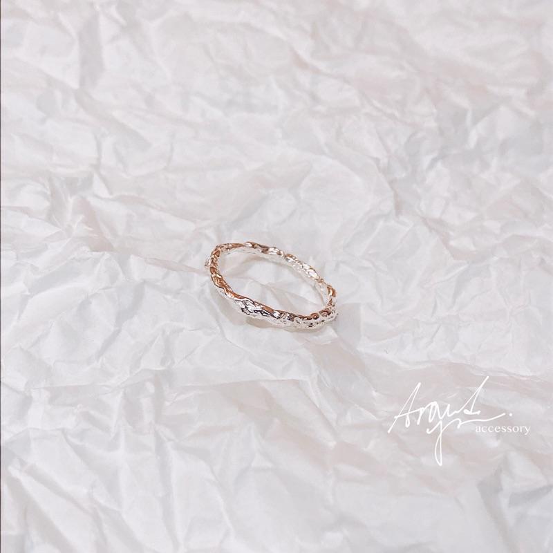 礫石-純銀戒指 開口戒 戒圍可調
