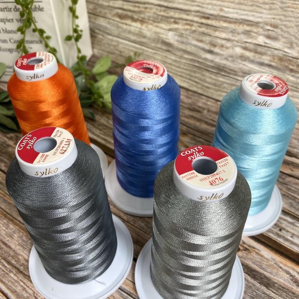 【栓冠】COATS繡花線 120D/2 3000M 繡線 車縫線 縫紉線 車線 手縫線 專用車線【B022】