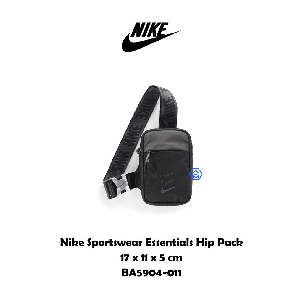 Nike Sportswear Hip Pack 串標 小勾 全黑 腰包 戰術包 側背包 BA5904-011