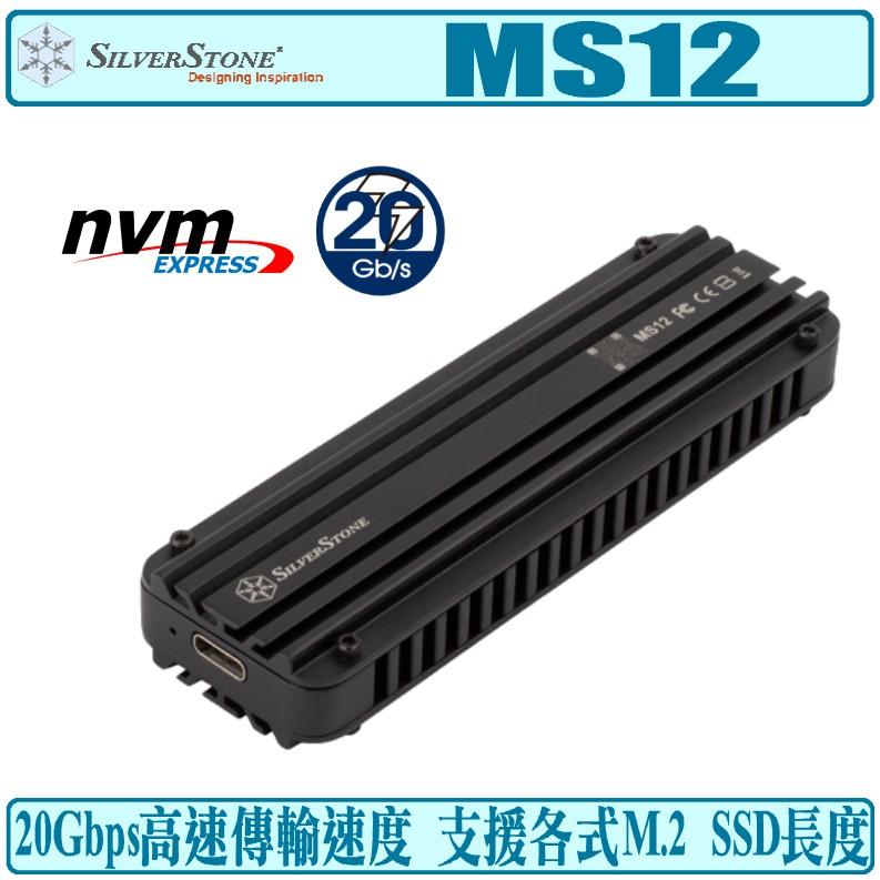 銀欣 SilverStone MS12 NVMe M.2 SSD 外接盒 USB 3.2 Type-C