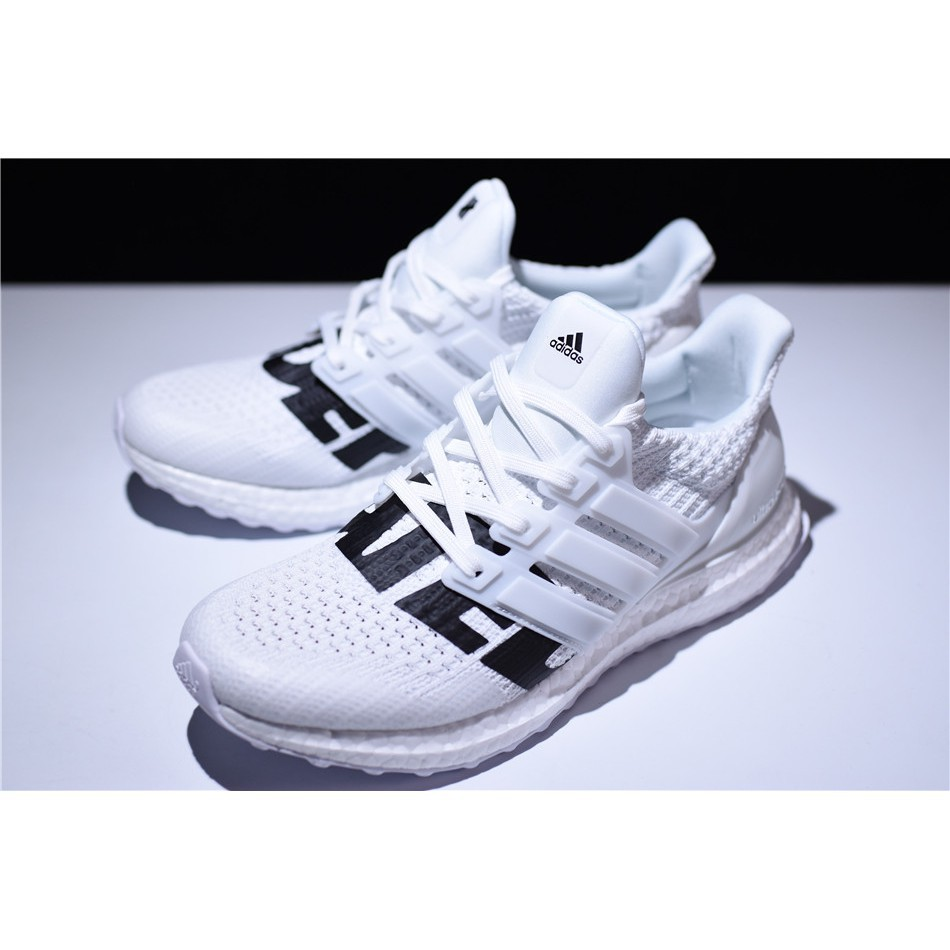 on sale a96d8 b8c86 【正貨爆款】Adidas Ultra Boost 4.0 x Undefeated UDFT 全白 黑字 白鞋