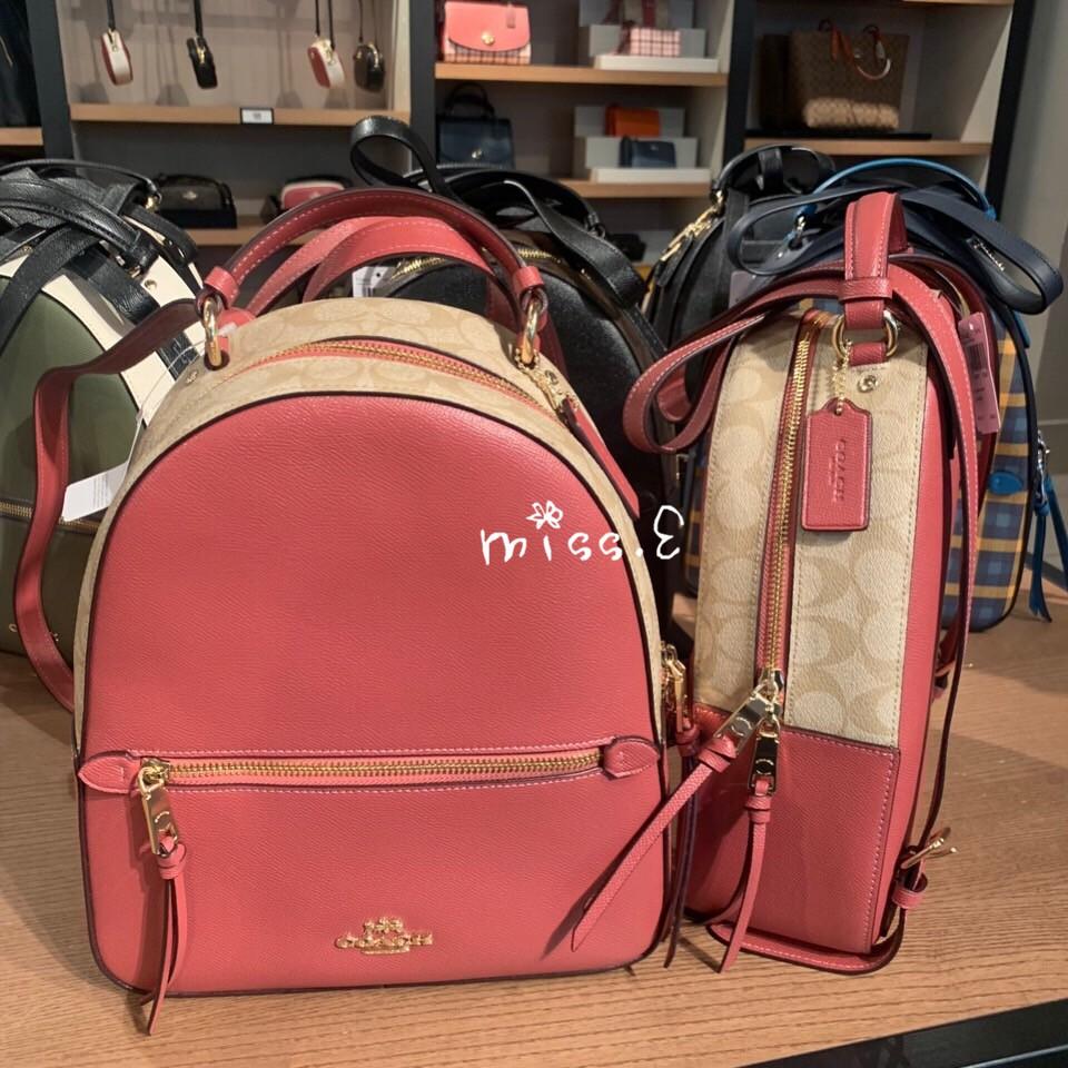 MISS.3海外代購COACH蔻馳女士新款拉鏈拼色款雙肩包