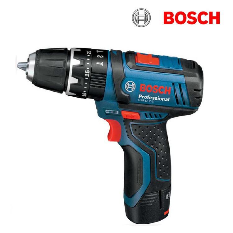 德國BOSCH 博世 GSB gsb12v 12V-2-LI 保固一年 2.0Ah單鋰電/雙鋰電 充電震動起子機 電鑽