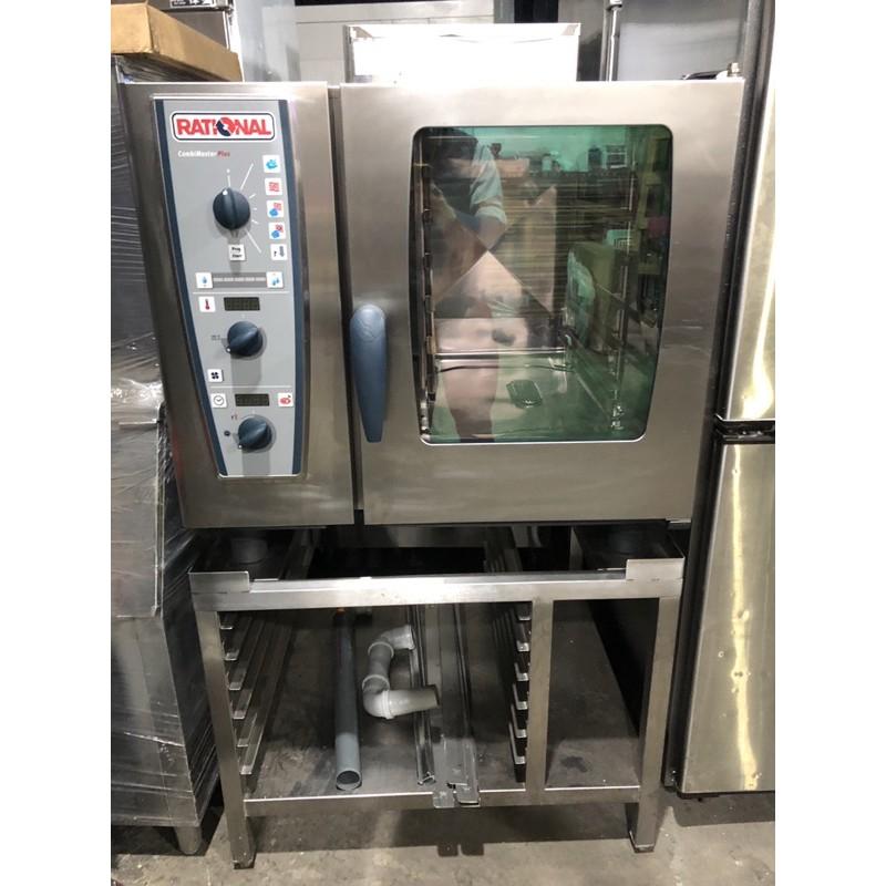 中古機Rational萬能蒸烤箱6盤機械式含置機台
