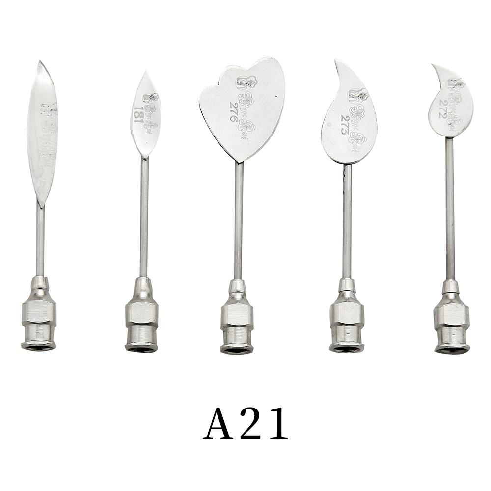 優果《越南進口不鏽鋼果凍花針A21》每組內含5支針