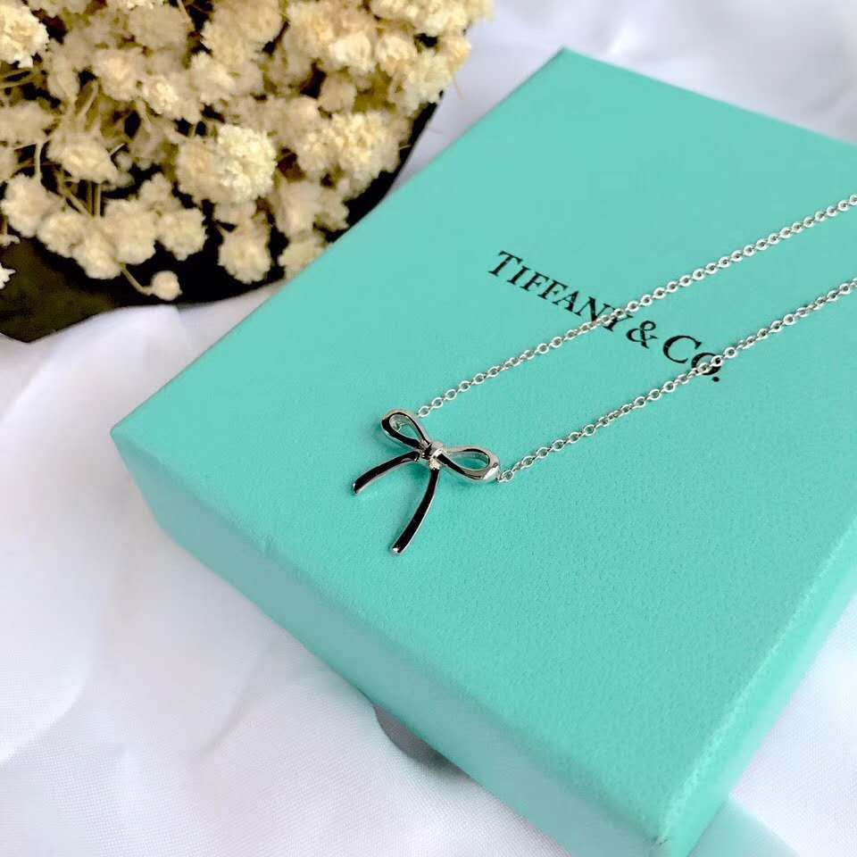 現貨Tiffany&Co 蝴蝶結女士項鍊 簡約風格 925純銀 少量現貨
