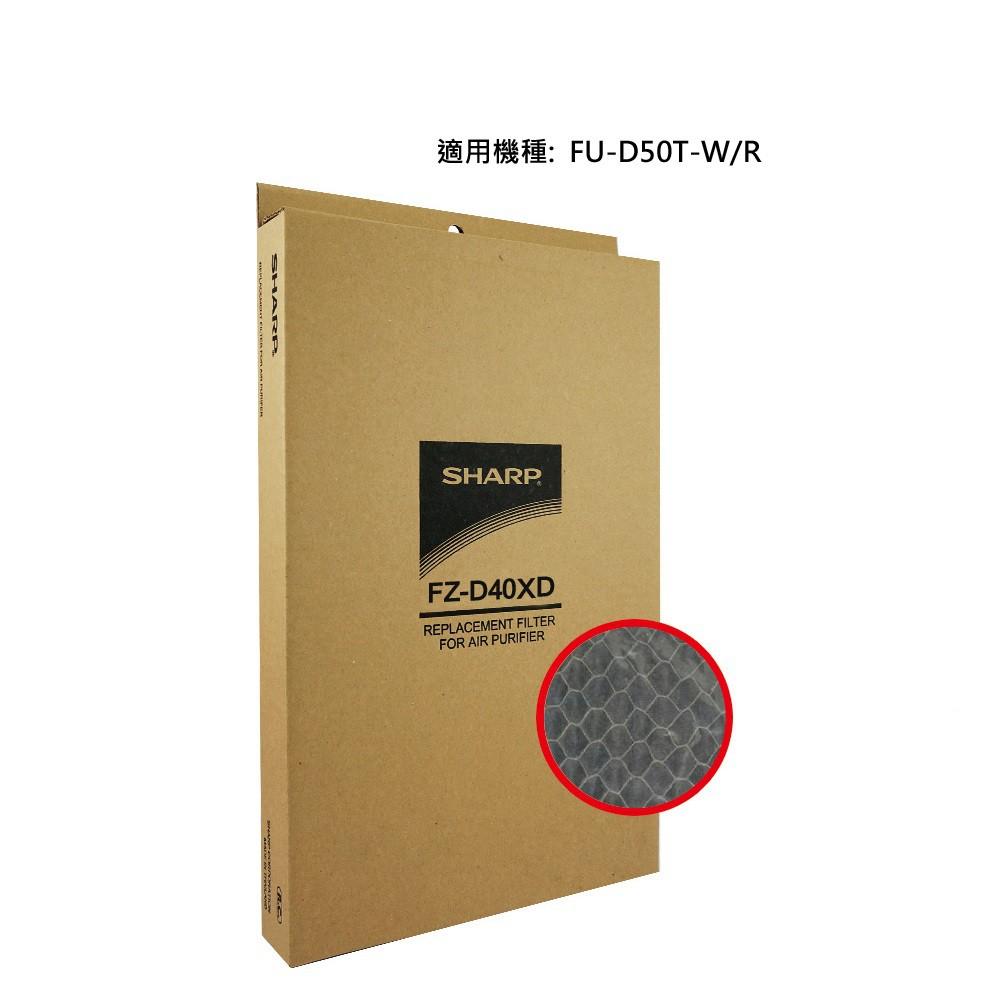 SHARP 夏普 FU-D50T專用蜂巢狀活性碳濾網 FZ-D40XD