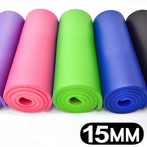 15MM加厚NBR健身墊(送束帶)瑜珈墊止滑墊防滑墊運動墊.遊戲墊野餐墊防潮墊子.地墊床墊睡墊避震墊C160-5230