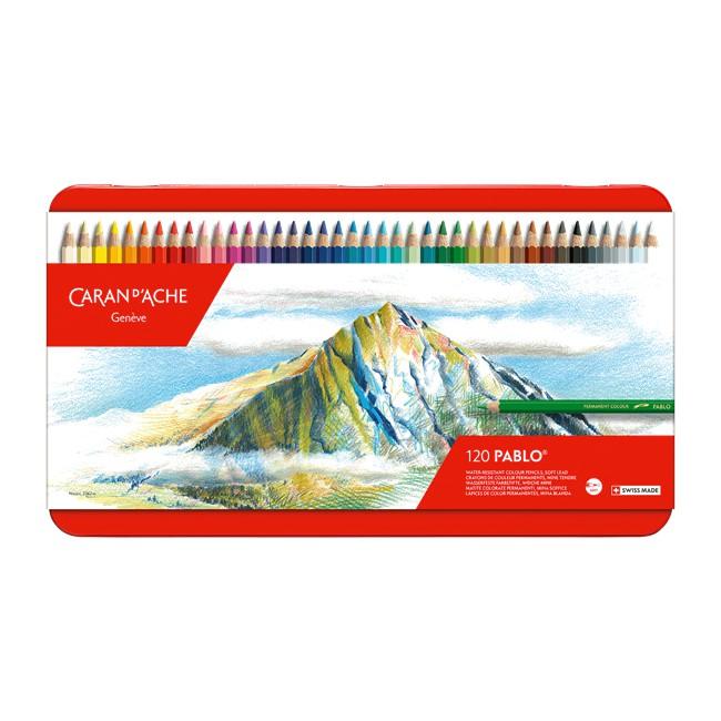 瑞士CARAN D'ACHE卡達 PABLO 專家級 油性色鉛筆-120色(2021新包裝)