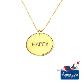 Anna Lou OF LONDON 台北ShopSmart直營店 倫敦品牌 優雅字墜 金項鍊 Happy 臺北市