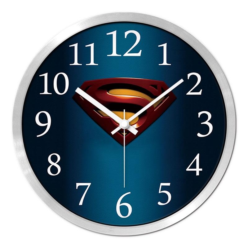 蜘蛛人掛鍾美國隊長鐘錶兒童臥室靜音掛壁鍾表超人創意動漫時鐘