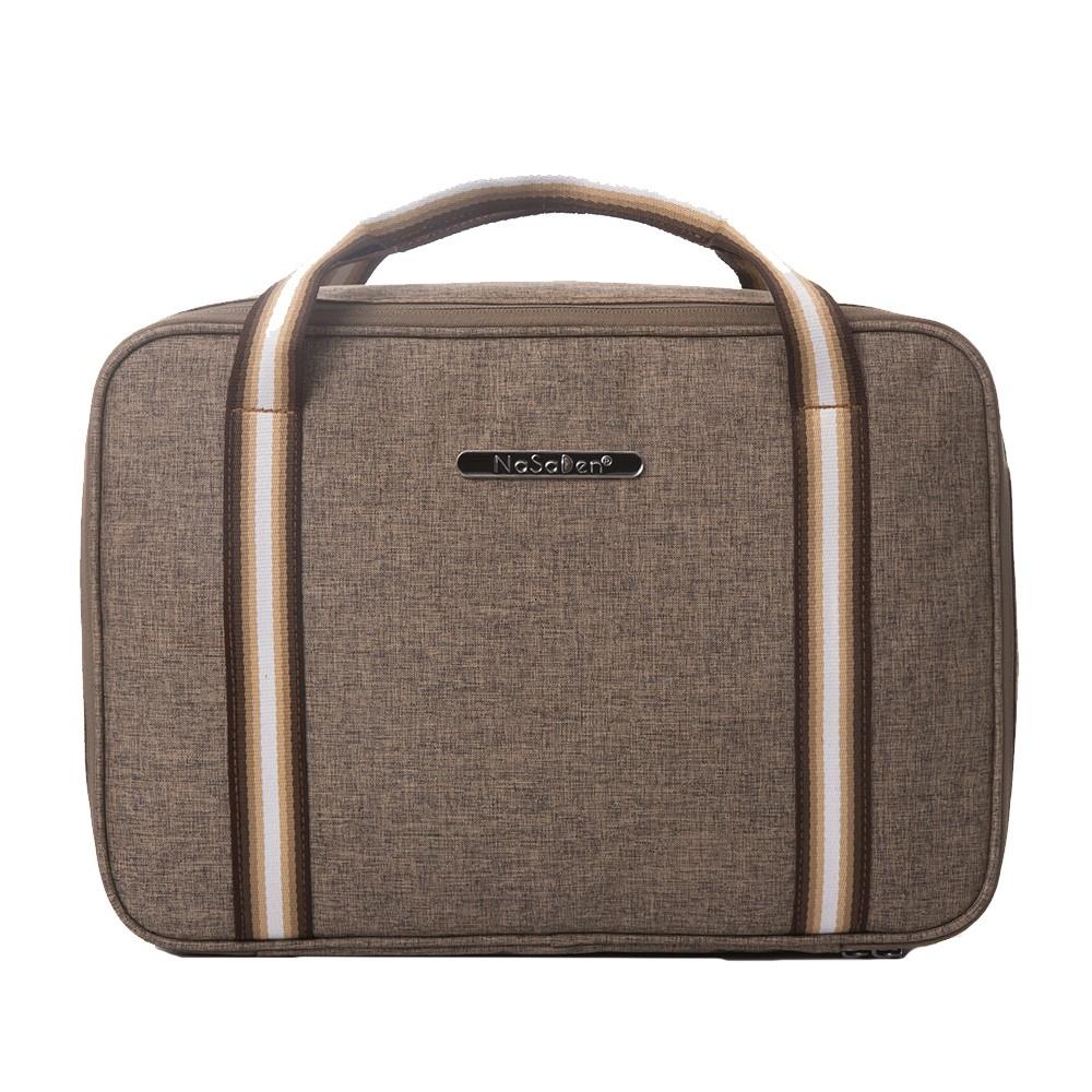 【NaSaDen】【鎏金版】雪佛包-肩背/手提/穿套行李箱-/收納袋/行李袋-相當一個16吋的行李箱-咖啡棕