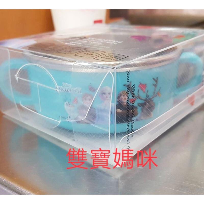 *^O^*雙寶媽咪,正韓兒童餐具組「冰雪奇緣2」餐具組 ,冰雪奇緣2不鏽鋼碗,艾莎把手碗,冰雪2不鏽鋼碗,愛莎正韓冰雪2