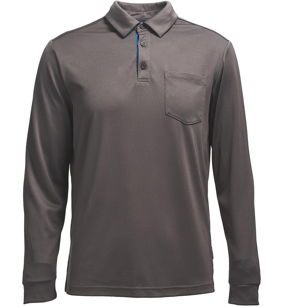 荒野 Wildland 男椰碳紗本布領長袖上衣0A71656-93 深灰色 【登山屋】