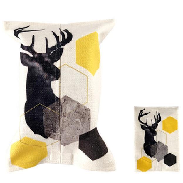 精選❤紙巾盒田園布藝家用歐式簡約客廳車用茶幾創意家居抽紙抽巾盒