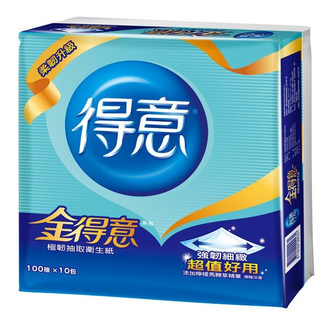 10倍蝦幣(免運費)金得意100抽84包/70包極韌 得意 衛生紙