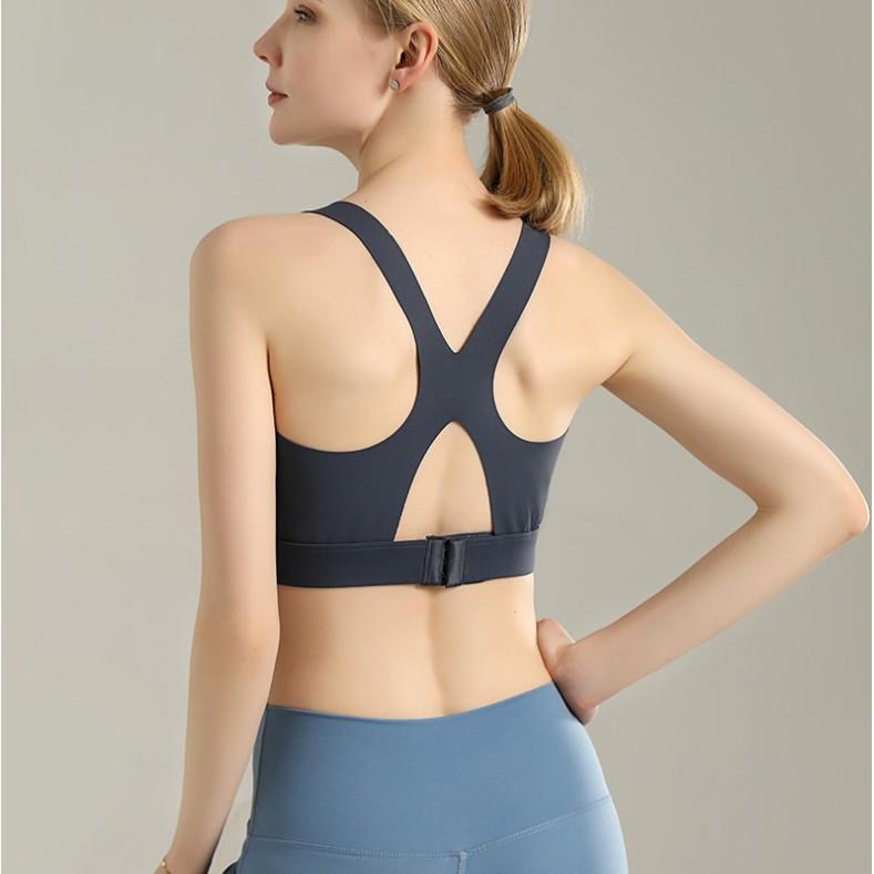 無痕美背運動內衣 高強度 一體式胸墊 固定式胸墊 健身瑜伽跑步 裸空美背運動內衣