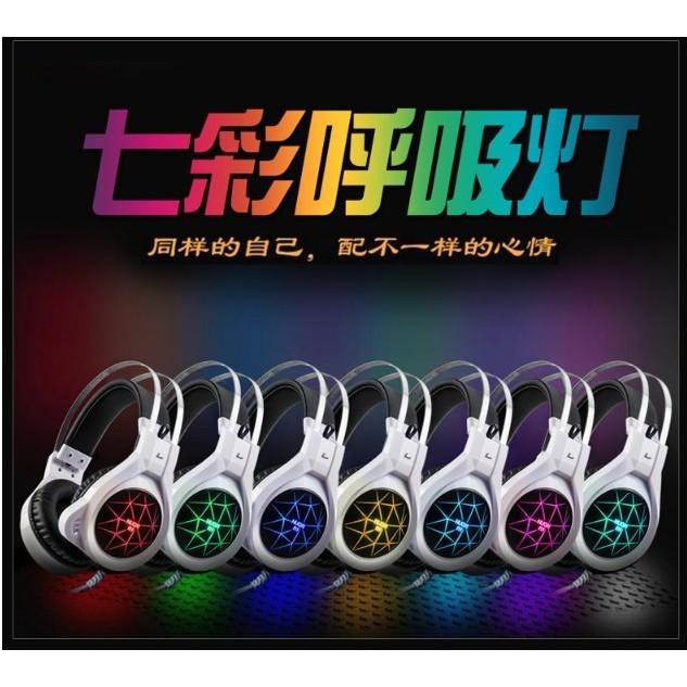 電競耳麥 當日出貨🎧 【先搶先贏】NUOXI N1 七彩呼吸燈 電競耳麥 現貨熱賣中