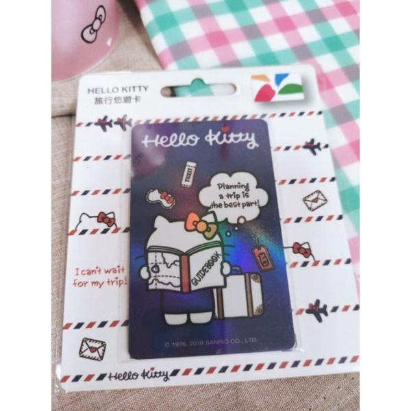 凱蒂貓kitty/悠遊卡/環遊世界/絕版閃卡