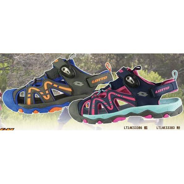 [爾東體育] LOTTO 磁扣護趾涼鞋 LT1AKS3386 LT1AKS3383 兒童涼鞋 運動涼鞋 防水涼鞋