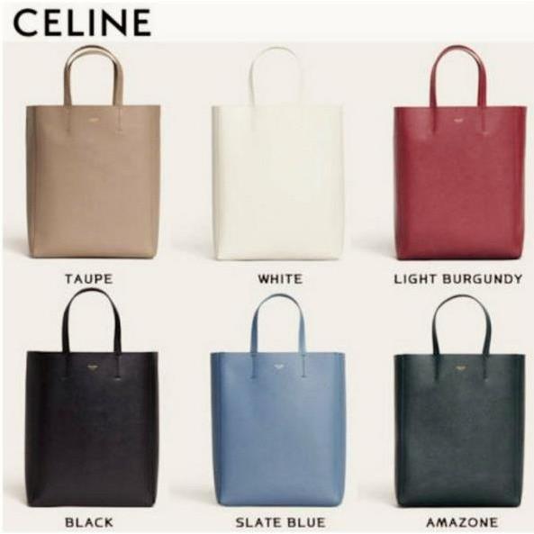 正品二手CELINE Cabas 黑色/棕灰咖裸色/亞馬遜深綠色/酒紅色/藍色/白色 小款 真皮手提托特肩背水桶包