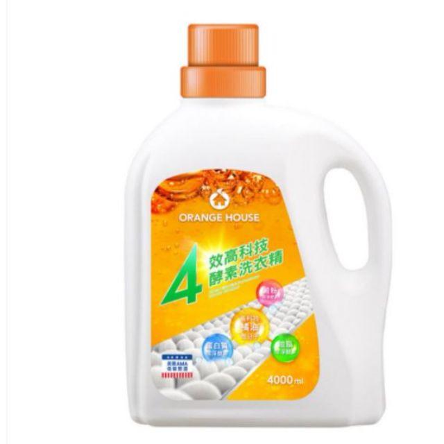 好市多橘子工坊四效高科技酵素洗衣精 4000毫升