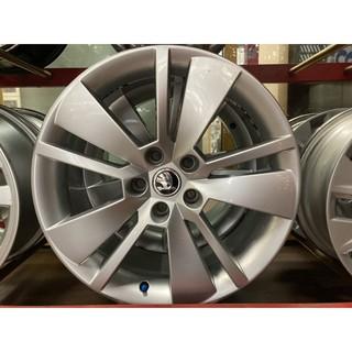 +歐買尬輪胎館+SKODA原廠18吋中古鋁圈 5X112 8J ET44 直購價8000元 無明顯外傷 無變形