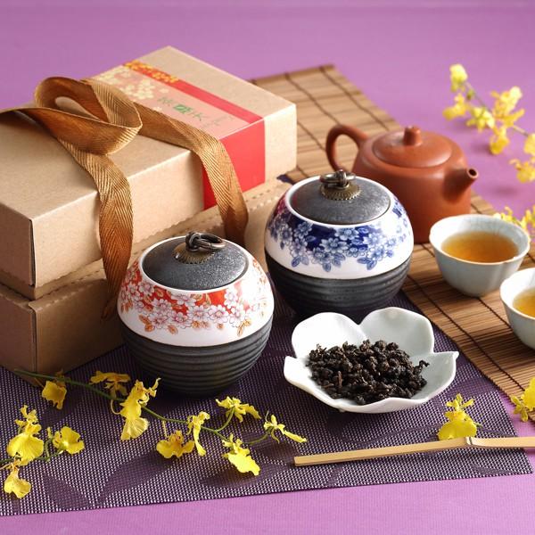 【茶鼎天】  青花瓷鐵繡釉茶罐 台灣高山茶禮盒 給最有品味的您