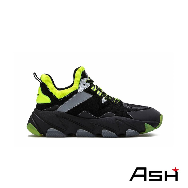 ASH ENERGY 潮流增高運動老爹鞋 黑黃色