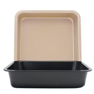 【限時特價】DIY正方形烤盤 不粘蛋糕模 6吋8吋正方形烤盤 披薩盤 蛋糕模具【Feng家居】