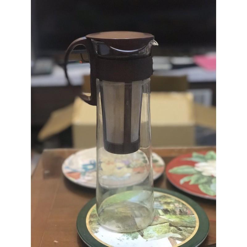 日本製造Hario咖啡冷泡茶壺1000c.c棕色