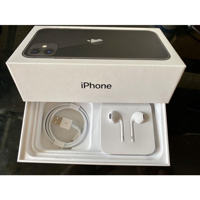 [原廠]全新 Apple EarPods 耳機&Lightning 傳輸線(iPhone11原廠盒內配件),二手豆腐頭