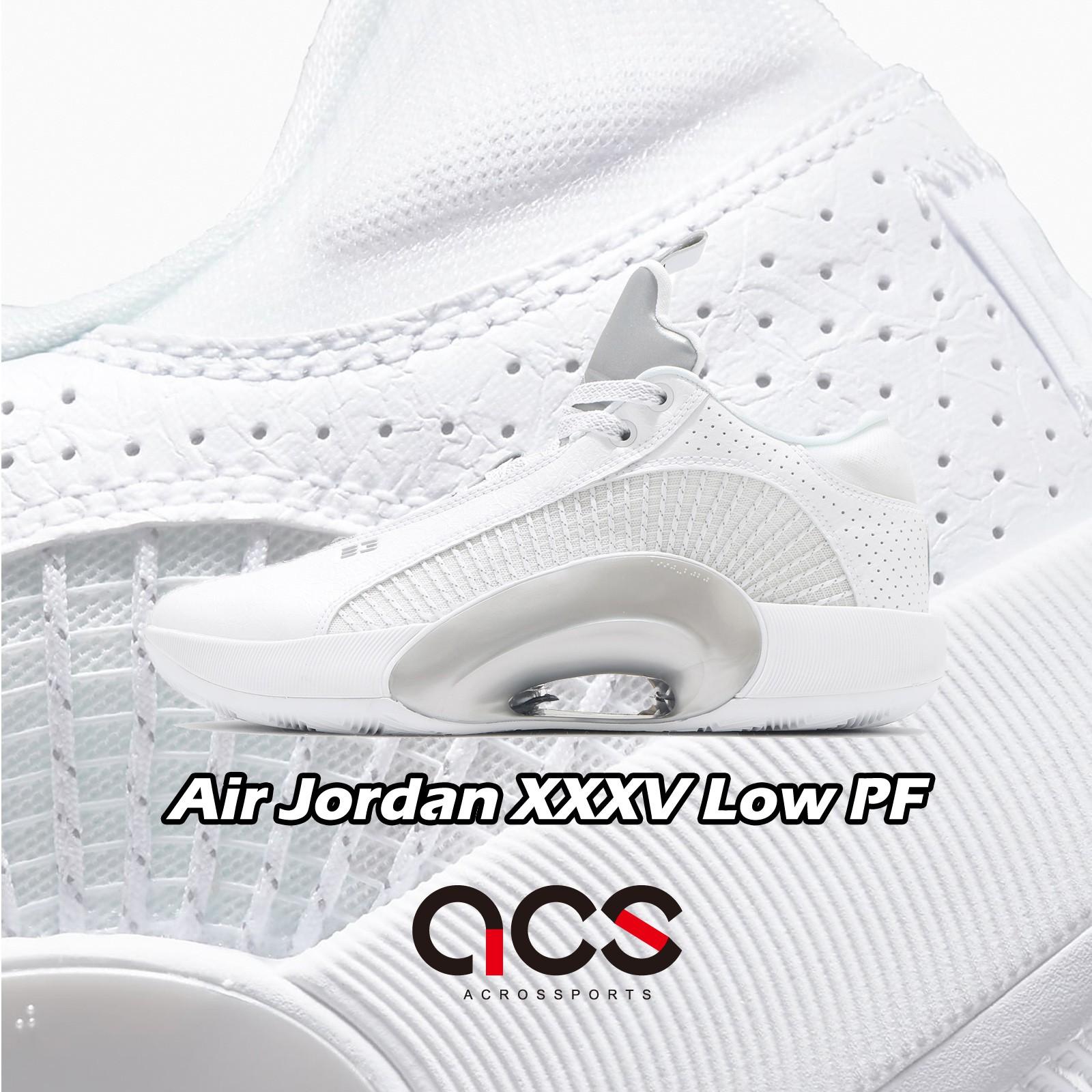 Nike 籃球鞋 Air Jordan XXXV Low PF 白 銀 喬丹 35 男鞋【ACS】 CW2459-100