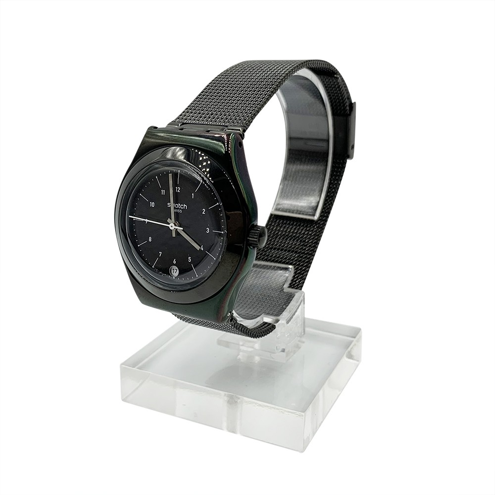 Swatch NERONERO 日期 腕錶 手錶 黑 YLB403M