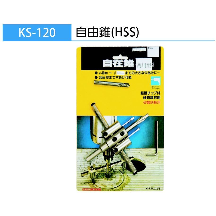 小E五金 KS HSS 雙刀自在錐 雙刀自由錐 自在錐 自由錐 木工用 鑽孔 KS-120 / 200 / 300 mm